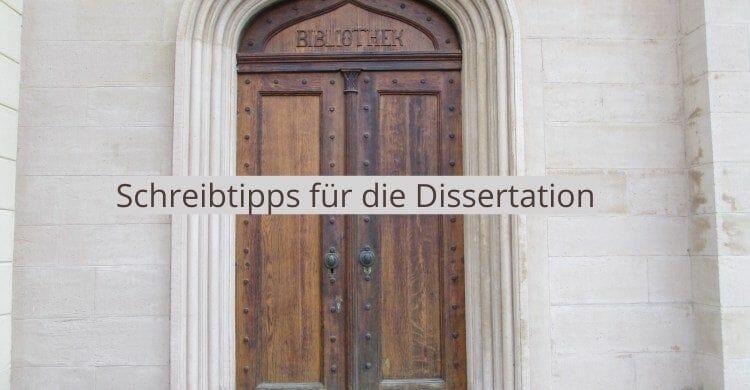 Schreibtipps für die Dissertation