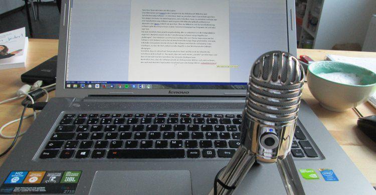 Sprechen statt Schreiben – die Alternative