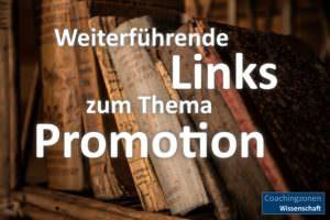 Links für Promovierende