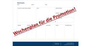 Zeitmanagement-Promotion-Dissertation