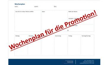 Zeitmanagement-Promotion-Dissertation