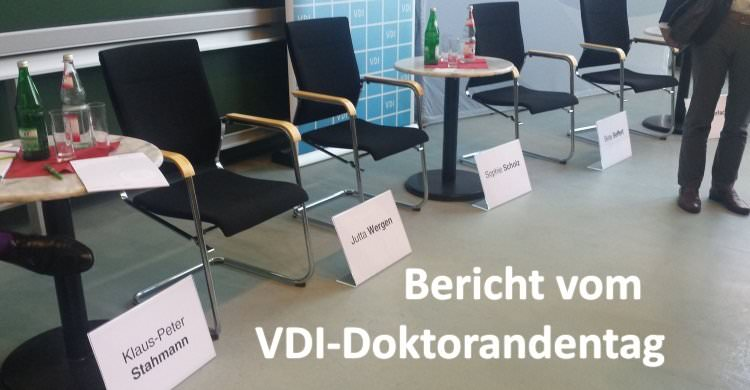 Bericht vom VDI-Doktorandentag