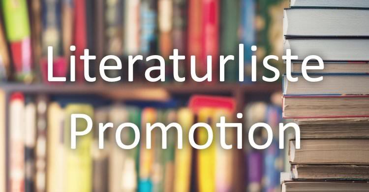 Literaturliste Promotion