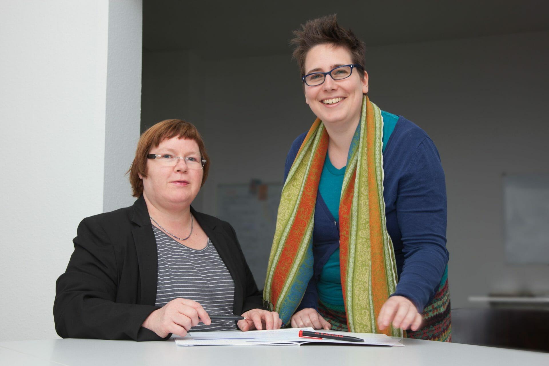 Jutta Wergen und Christine Heinen