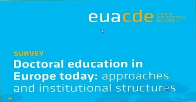 Stand der Doktorandenausbildung in Europa