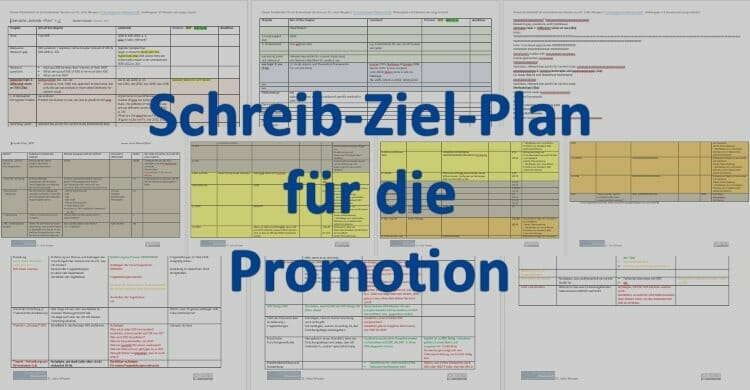 Schreib-Ziel-Plan für die Dissertation