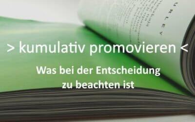 Kumulativ promovieren