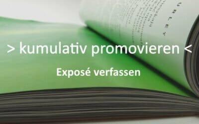 Exposee für die kumulative Promotion