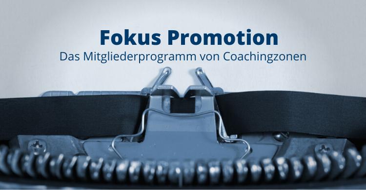 "Das Monatsprogramm ""Fokus-Promotion"""