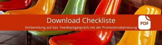 Download Checkliste Feedbackgespräch mit der Promotionsbetreuung