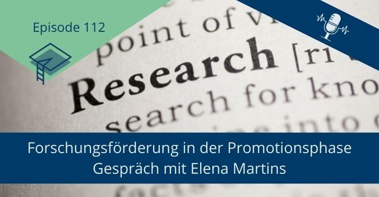Forschungsförderung in der Promotionsphase